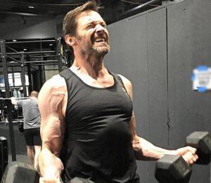 Hugh Jackman getting in those Wolverine Curls