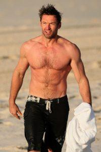 Hugh Jackman ripped on the beach